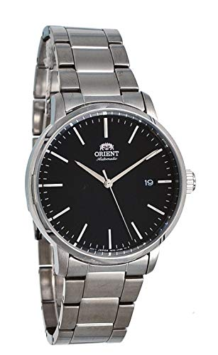 41X1z0ZYtEL - Orient RA-AC0E01B Men's Maestro Stainless Steel Minimalist Black Dial Automatic Watch