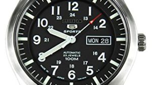51BOmgo1ZFL 300x169 - Seiko 5 Sports Military Automatic Gents SNZG13J1