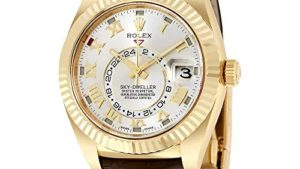 51nuhNtEtmL 300x169 - Rolex Sky Dweller Silver Dial 18kt Yellow Gold Brown Leather Mens Watch 326138