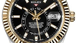 51ouBSiceeL 300x169 - Luxury Rolex Sky-Dweller Black Dial Gold & Steel Mens Watch - Reference: 326933
