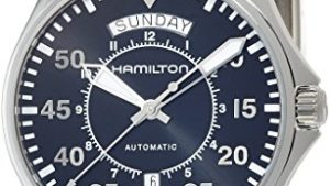 51sUC 3MkkL 300x169 - Hamilton Men's 'Khaki Aviation' Swiss Automatic Stainless Steel Dress Watch, Color:Silver-Toned (Model: H64615135)
