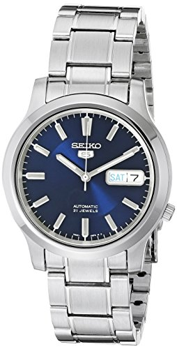 41 I2OpcrTL - SEIKO 5 Men's SNK793 Automatic Stainless Steel Watch with Blue Dial