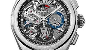 413NJ2BANVnL 294x169 - Zenith Mens Defy El Primero 21 44mm Titanium Skeleton Watch 95.9000.9004/78.R782