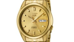 4156cXkWPZL 300x169 - Seiko Men's SNK366K Seiko 5 Automatic Gold Dial Gold-Tone Stainless Steel Watch