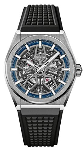 41PG xQ9TL - Zenith Defy Classic Blue Titanium Skeletonised Movement Watch 95.9000.670/78.R782