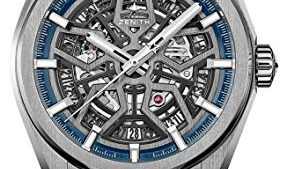 41PRToyaOeL 287x169 - Zenith Defy Classic Blue Titanium Skeletonised Movement Watch 95.9000.670/78.R584