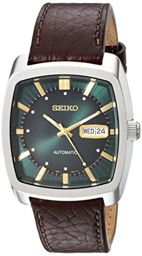 41U4n5zWFDL - Seiko Men's Recraft Series Automatic Leather Casual Watch (Model: SNKP27)