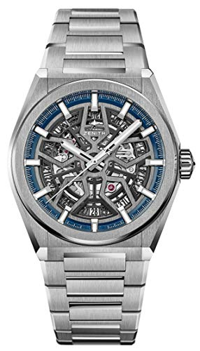 41Wmse9nwGL - Zenith Defy Classic Blue Skeletonised Movement Watch 95.9000.670/78.M9000