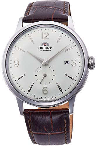41Z7FyNQg2BL - Orient Men's Stainless Steel Automatic Watch with Leather Strap, Brown, 21 (Model: RA-AP0002S10B)
