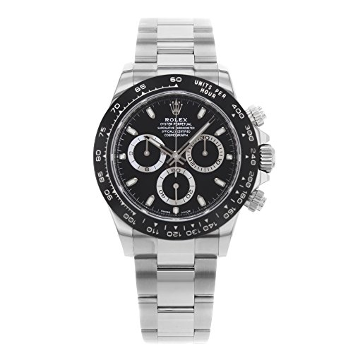 41y8UorMdaL - ROLEX Cosmograph Daytona Black Dial Stainless Steel Oyster Men's Watch 116500