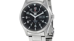 41yX8j626HL 300x169 - SEIKO Men's SNZG13 SEIKO 5 Automatic Black Dial Stainless-Steel Bracelet Watch