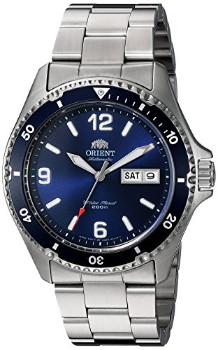 511sd3KIYQL - Orient Men's 'Mako II' Japanese Automatic Stainless Steel Diving Watch