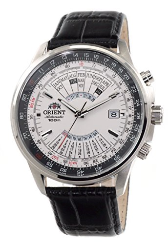 512BmcCirdEL - ORIENT Sports Automatic Multi-Year Calendar Cream White Dial Watch EU0700DW