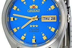514f2BcICMnL 250x169 - Orient FAB00009L Men's 3 Star Stainless Steel Blue Dial Self Wind Automatic Watch