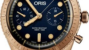517gQZ97miL 300x169 - Oris Carl Brashear Chronograph Limited Edition Bronze Watch 01 771 7744 3185-Set LS