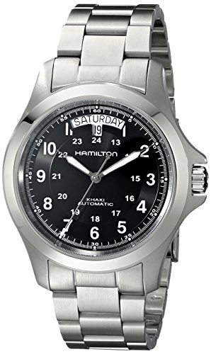 51BmySyrUgL - Hamilton Men's H64455133 Khaki King II Black Dial Watch