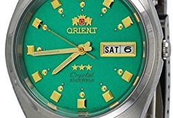 51R66ziMmSL 249x169 - Orient FAB00009N Men's 3 Star Stainless Steel Green Dial Self Wind Automatic Watch