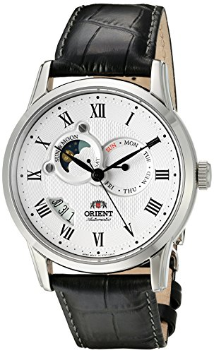 51RSV0UWT8L - Orient Men's 'Sun and Moon Version 2' Japanese Automatic Watch