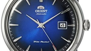 51SespoM5FL 300x169 - Orient 'Bambino Version IV' Japanese Automatic Stainless Steel and Leather Dress Watch