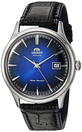 51SespoM5FL - ORIENT Orient Men's Bambino Version 4 Stainless Steel Japanese-Automatic Watch Leather Calfskin