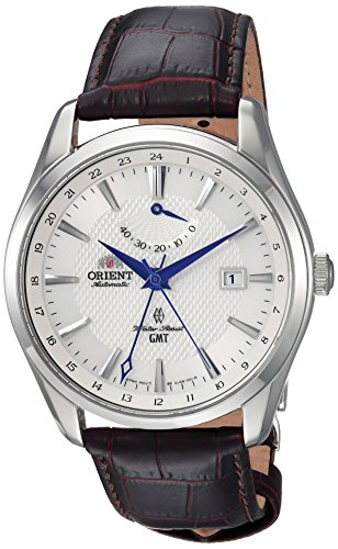 51TUUfunNgL - Orient Men's GMT Stainless Steel Swiss Automatic Watch with Leather Strap, Brown, 21 (Model: FDJ05003W0)