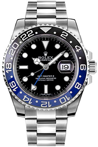 51XPWfdyTBL - Rolex Oyster Perpetual GMT Master II Men's Watch 116710BLNR