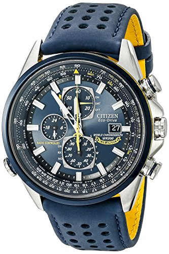 51awcjdGB9L - Citizen Men's Eco-Drive Blue Angels World Chronograph Atomic Timekeeping Watch with Day/Date, AT8020-03L