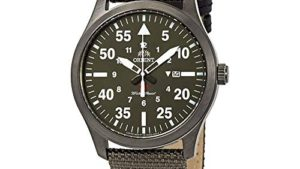 51mweVUFqdL 300x169 - Orient Flight Green Dial Green Canvas Men's Watch FUNG2004F