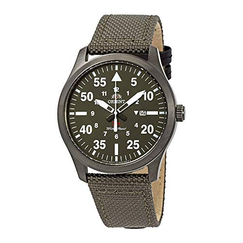 51mweVUFqdL - Orient Flight Green Dial Green Canvas Men's Watch FUNG2004F