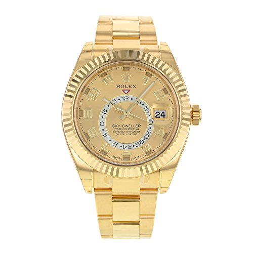 41JPyLwxwkL - Rolex New Sky-Dweller 326938 42mm Gold Engraved 2019 Box/Paper/5YrWarranty #RL16
