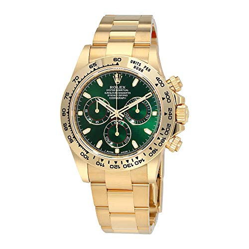 516qcot 4hL - Rolex Cosmograph Daytona Green Dial 18K Yellow Gold Oyster Men's Watch 116508GRSO