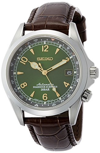 51wZ8RuGP6L - Seiko Men's Stainless Steel Japanese-Automatic Watch with Leather Calfskin Strap, Brown, 20 (Model: SARB017)