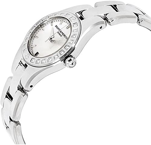 41BoVtH9zOL. AC  - Baume & Mercier Linea Mother of Pearl Stainless Steel Ladies Watch M0A10078