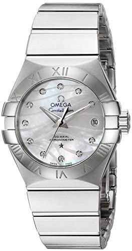 41GvVWJyVPL. AC  - Omega Women's 'Constellation' Swiss Automatic Stainless Steel Dress Watch, Color:Silver-Toned (Model: 12310272055002)