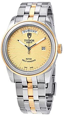 41MvI2OwvCL. AC  - Tudor Glamour Day Date Automatic Champagne Jacquard Dial Men's 39 mm Watch M56003-0003