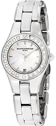 41WYsT +ScL. AC  - Baume & Mercier Linea Mother of Pearl Stainless Steel Ladies Watch M0A10078