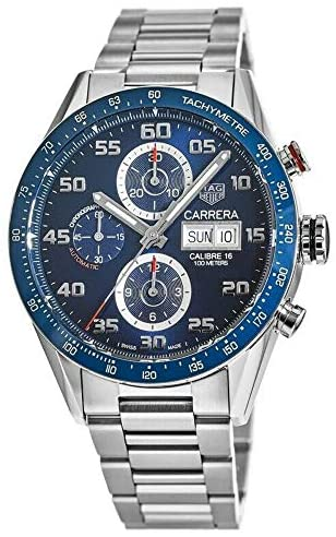 51FzxB0ZJSL. AC  - Tag Heuer Carrera Day Date Automatic Chronograph 43mm Mens Watch CV2A1V.BA0738