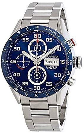 51NcAwKT4XL. AC  - Tag Heuer Carrera Day Date Automatic Chronograph 43mm Mens Watch CV2A1V.BA0738
