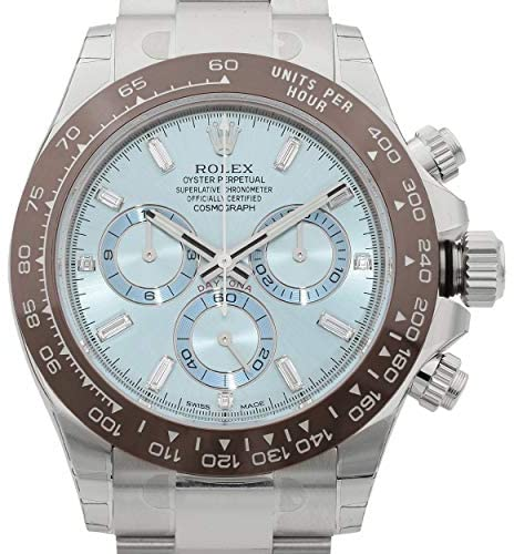 51QXDH5yyTL. AC  - Rolex Oyster Perpetual Cosmograph Daytona Ice Blue Dial Automatic Mens Chronograph Watch 116506