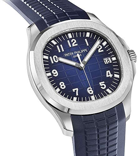 51f0XDmsFbL. AC  - Patek Philippe 20th Anniversary Aquanaut 18K White Gold Watch Composite Strap 5168G-001