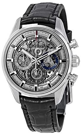 51s+Wq 2x+L. AC  - Zenith Chronomaster El Primero Full Open Skeleton Dial Automatic Men's Leather Watch 03.2153.400/78.C813