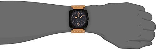 31YCIegfVLL. AC  - Bell & Ross Men's BR03-94-HERITAGE Avation Watch with Beige Leather Strap