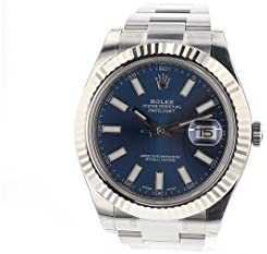 31hy+kjyeFL. AC  - Rolex Datejust Ii 41mm Steel Blue Dial Men's Watch 116334