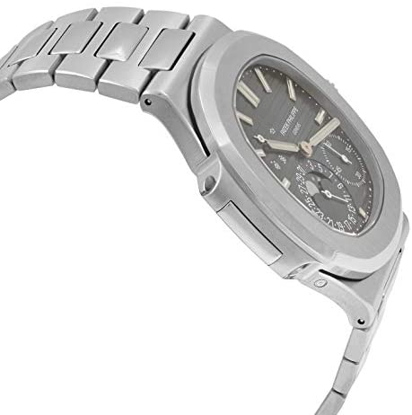 41+Z7om8fAL. AC  - Patek Philippe Nautilus Moon Phase Blue Striped Dial Steel Watch 5712/1A-001