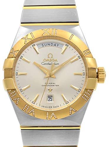 413vv42XY4L. AC  - Omega Constellation Steel Gold Diamonds Automatic Mens Watch 123.25.38.22.02.002
