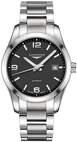 414gNxtI PL. AC  - Longines Conquest Automatic Black Dial Stainless Steel Mens Watch L27854566