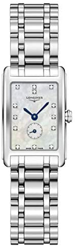 415Aqqsd0YL. AC  - Longines Dolce Vita Mother of Pearl Dial Stainless Steel Ladies Watch L52554876