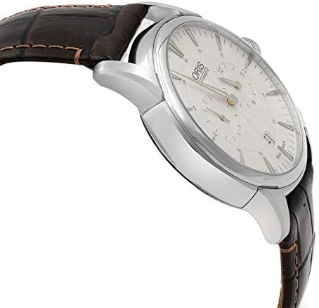 416RoEnxi3L. AC  - Oris Artelier Automatic Regulator Watch - Mens 40mm Analog Silver Face with Second Hand, Date and Sapphire Crystal - Brown Leather Band Self Winding Swiss Made Luxury Watches for Men 749 7667 4051