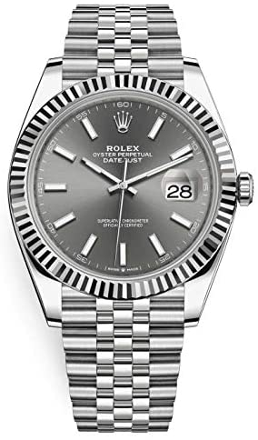419H9Vrfa2L. AC  - Men's Rolex Datejust 41 Dark Rhodium Dial Stainless Steel Watch on Jubilee Bracelet