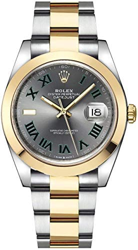 41A5QvaNOIL. AC  - Rolex Datejust 41 Yellow Rolesor Wimbledon Dial Men's Watch (Ref. 126303)